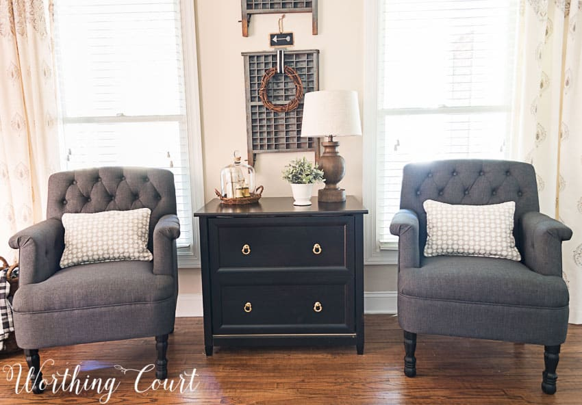 Replace the legs on a too-low chair with longer furniture replacement legs || Worthing Court