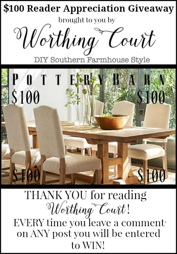 $100 Pottery Barn Gift Card Giveaway
