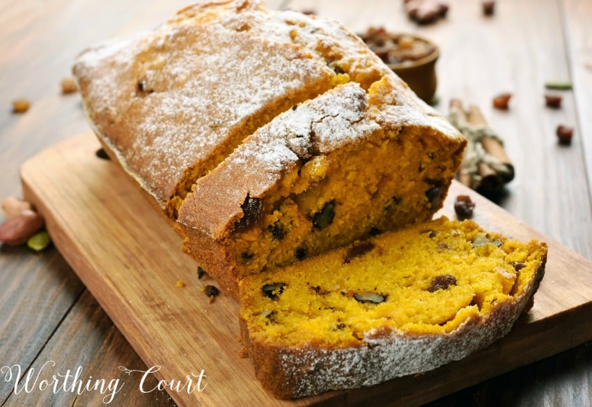 Recipe for the most delicious pumpkin bread you will ever eat || Worthing Court