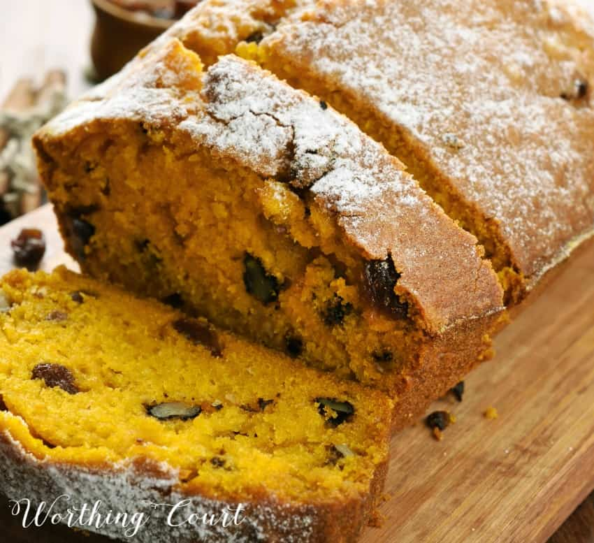 Moist and delicious pumpkin bread recipe || Worthing Court