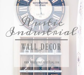 Rustic Industrial Wall Decor – An Office Makeover Update