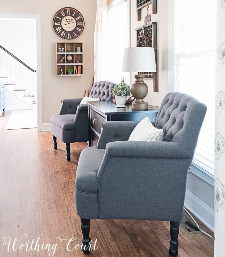 A Quick Fix For Inexpensive Upholstered Chairs || Worthing Court