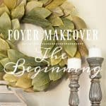 My Foyer Makeover – Inspiration And My First Project