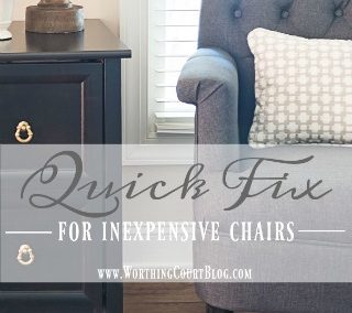 A Quick Fix For Those Inexpensive Upholstered Chairs