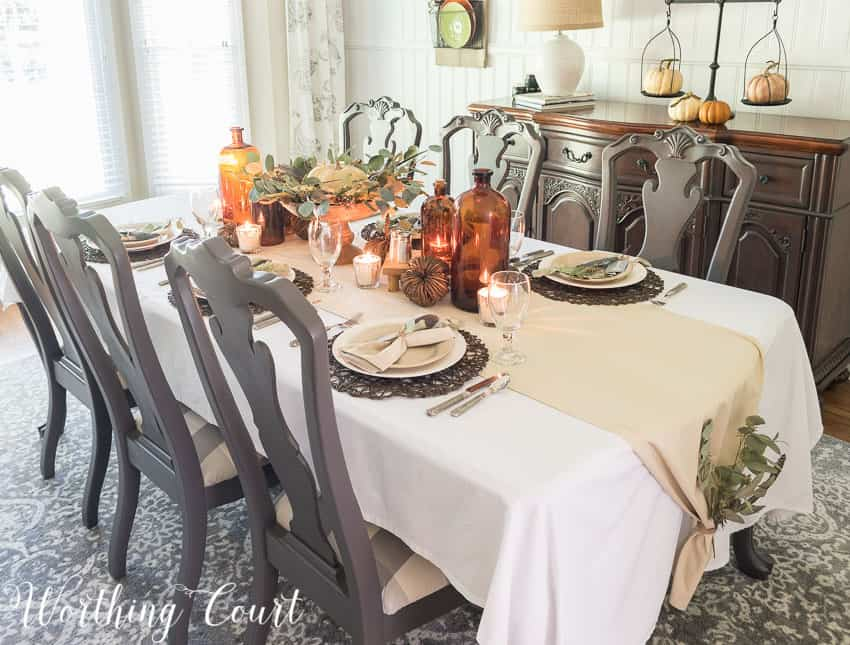 Thanksgiving table setting idea || Worthing Court