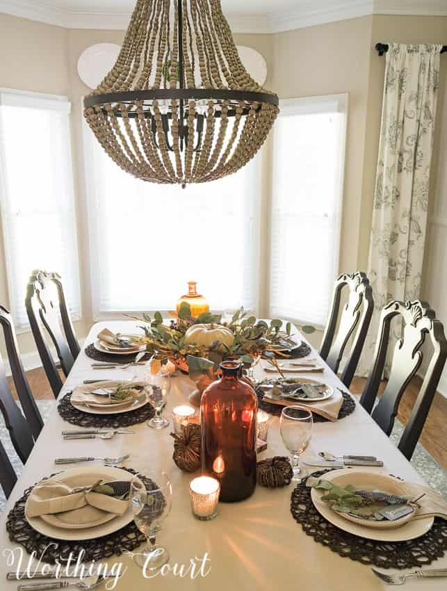 How to set a casual but elegant thanksgiving table for Elegant table setting for thanksgiving