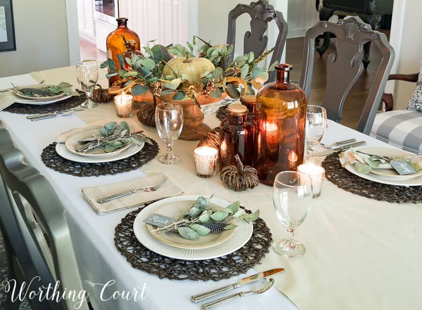 Causal And Elegant Thanksgiving Tablescape || Worthing Court