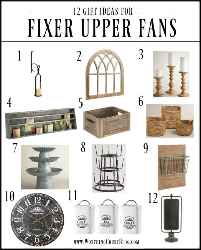 12 gift ideas for farmhouse style and Fixer Upper fans || Worthing Court