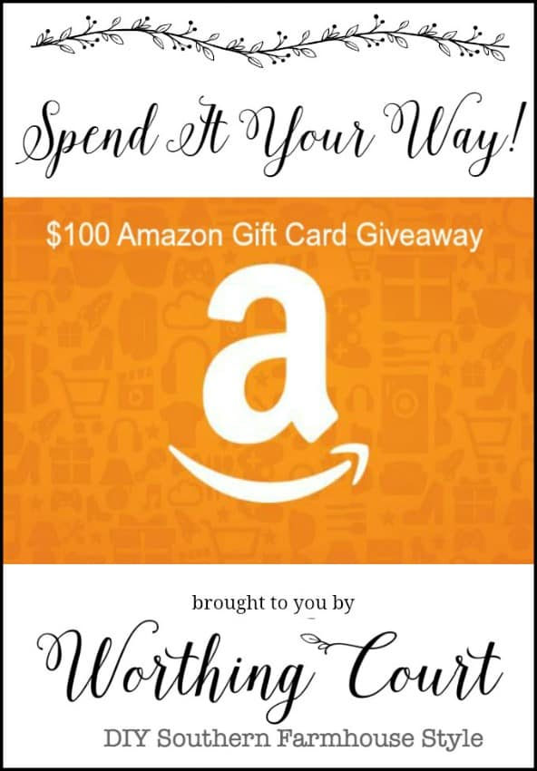 $100 Amazon Gift Card Giveaway || Worthing Court