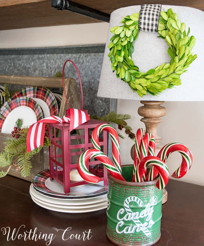 Christmas lantern and candy canes || Worthing Court