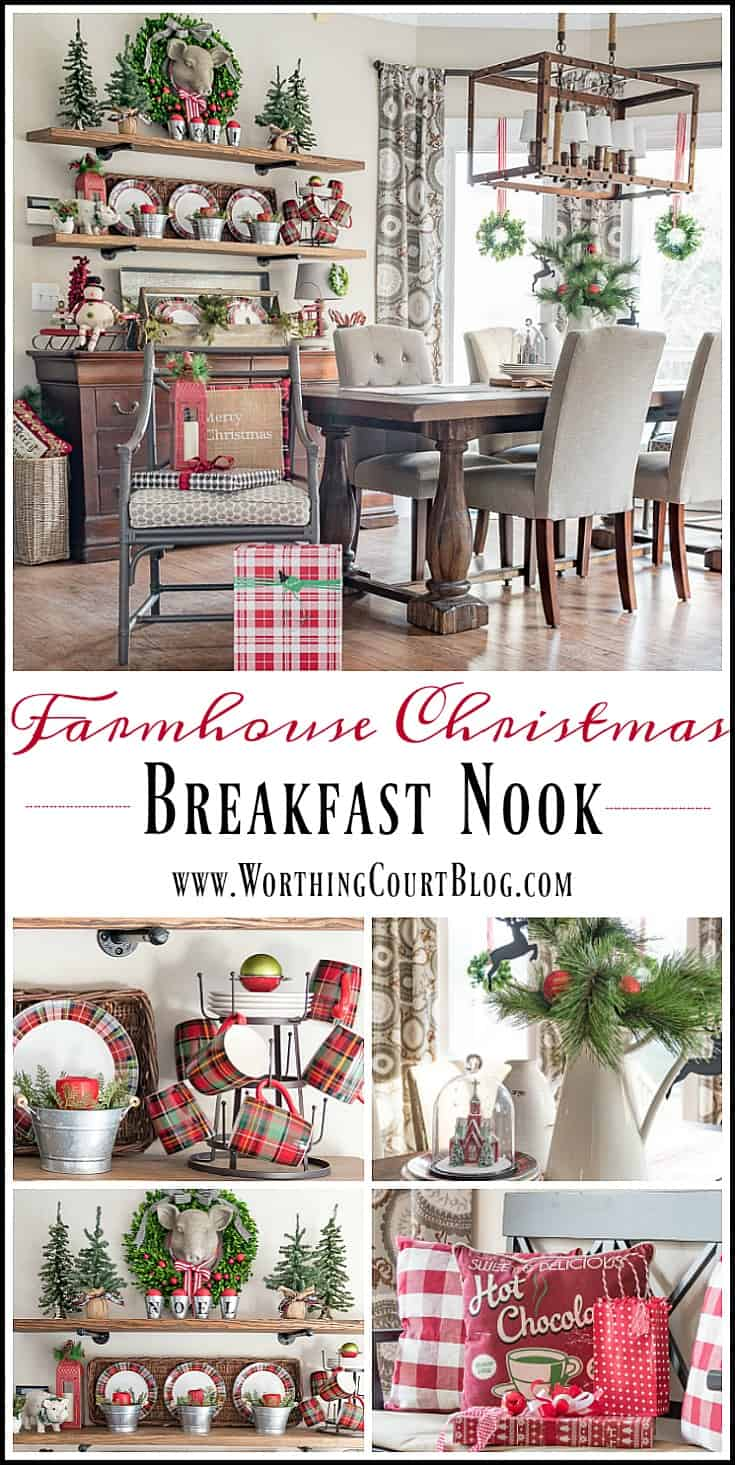 Christmas In My Farmhouse Breakfast Nook Worthing Court : Farmhouse Christmas Breakfast Nook Inspired By Christmas Plaid 2 from www.worthingcourtblog.com size 735 x 1465 jpeg 419kB