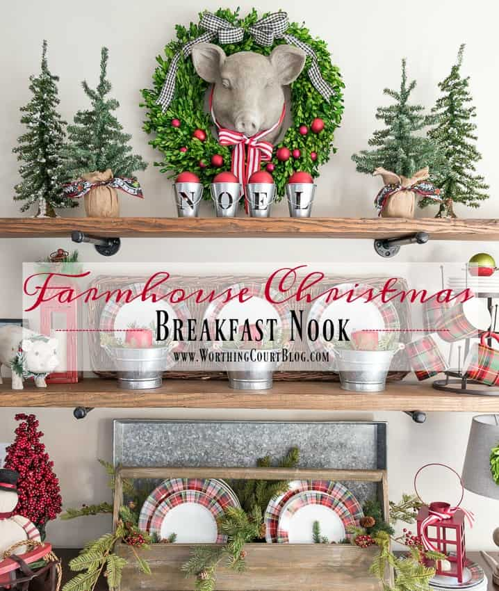 farmhouse christmas breakfast nook worthing court - Farmhouse Christmas