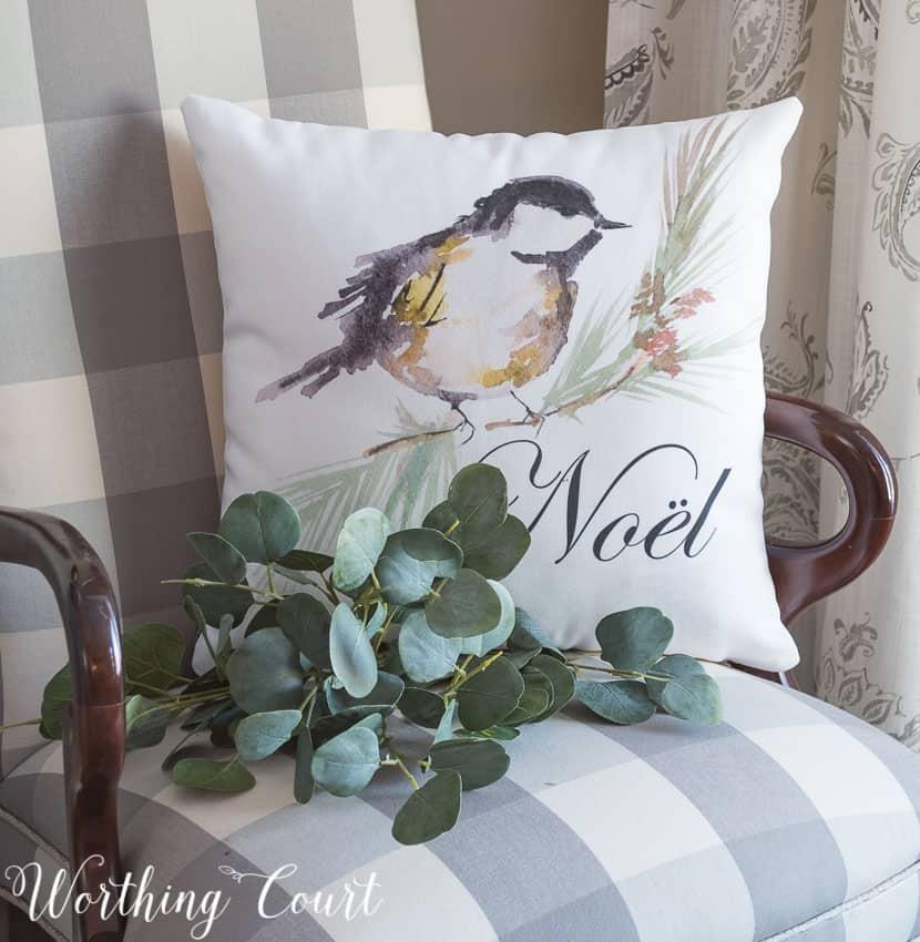 NOEL Christmas Pillow    Worthing Court
