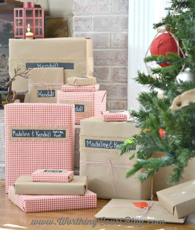 Pretty, Easy And Affordable Christmas Gift Wrapping || Worthing Court