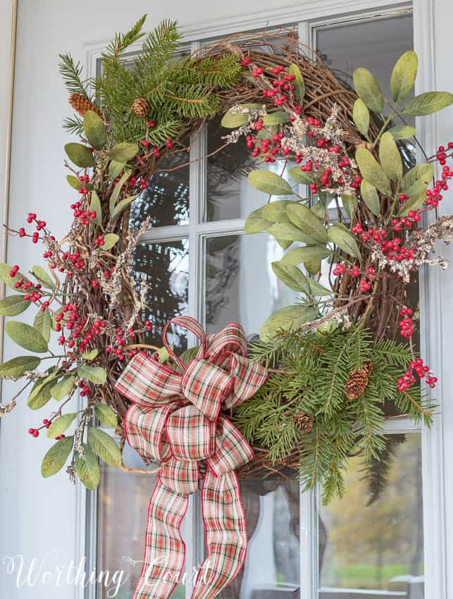 DIY grapevine Christmas wreath || Worthing Court