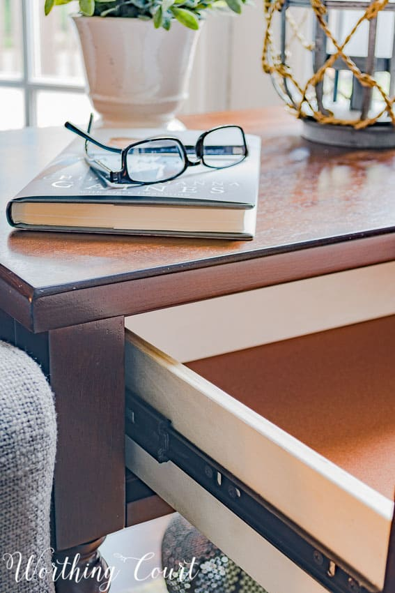 Side table drawer glide || Worthing Court