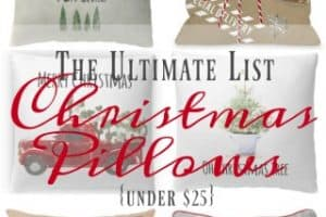 The Ultimate List – Farmhouse Christmas Pillows Under $25