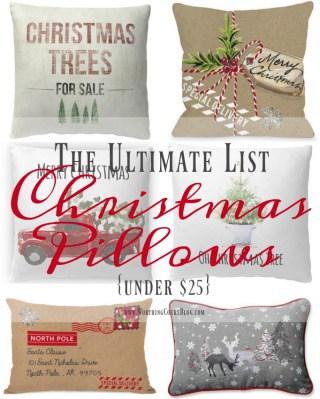 The Ultimate List – Farmhouse Christmas Pillows Under $25
