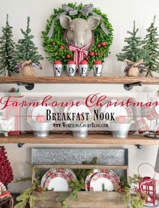 Christmas In My Farmhouse Breakfast Nook