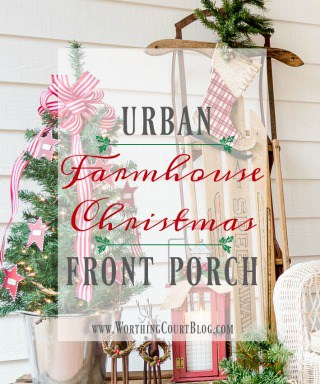 My Urban Farmhouse Christmas Front Porch