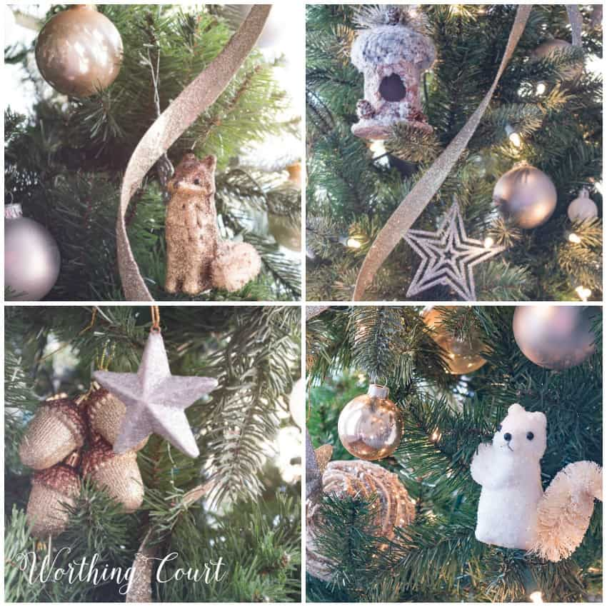 nature inspired Christmas tree ornaments    Worthing Court