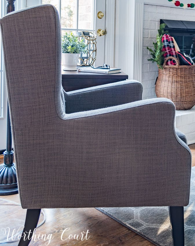 Side view of wing chair || Worthing Court