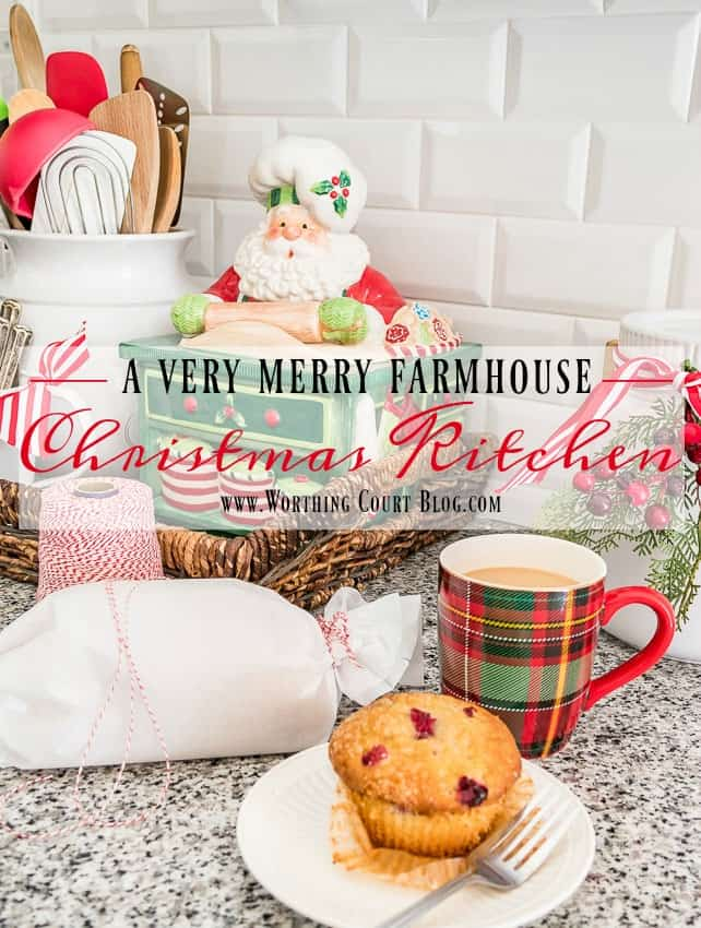 A Very Merry Farmhouse Christmas Kitchen || Worthing Court