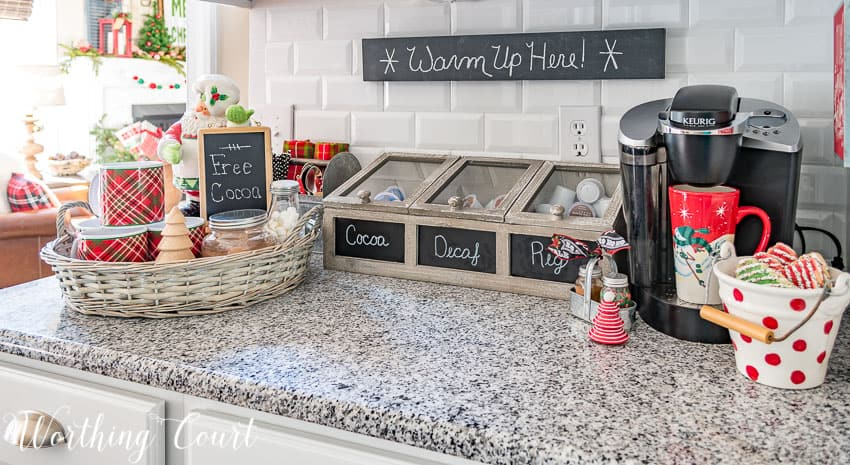 Christmas hot drink bar || Worthing Court