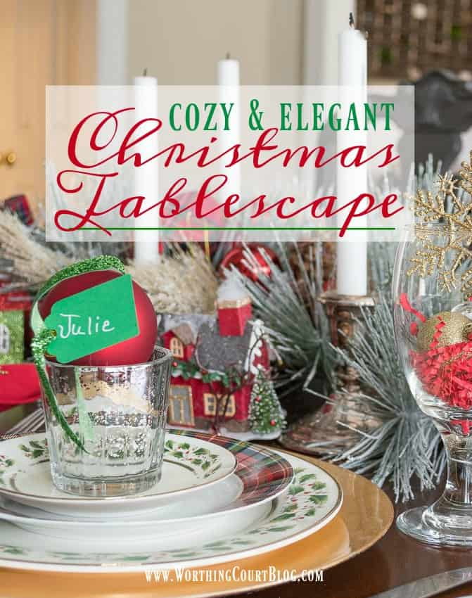 Cozy And Elegant Christmas Tablescape || Worthing Court