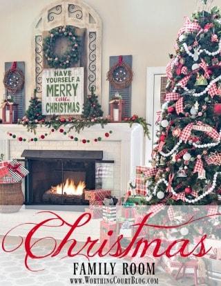 My Cozy Farmhouse Christmas Family Room