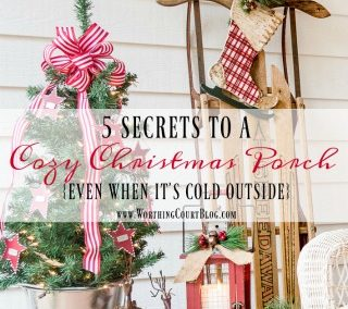 5 Secrets For Creating A Cozy Christmas Porch – Even When It's Cold Outside