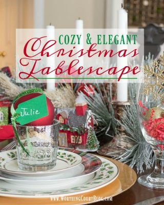 Cozy And Elegant Christmas Dinner Tablescape