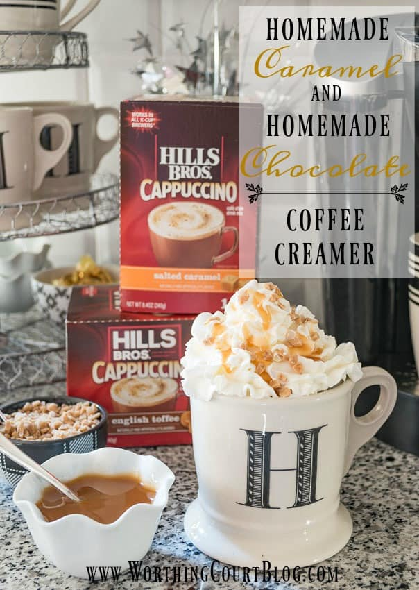Homemade Caramel And Homemade Chocolate Coffee Creamer Recipes || Worthing Court