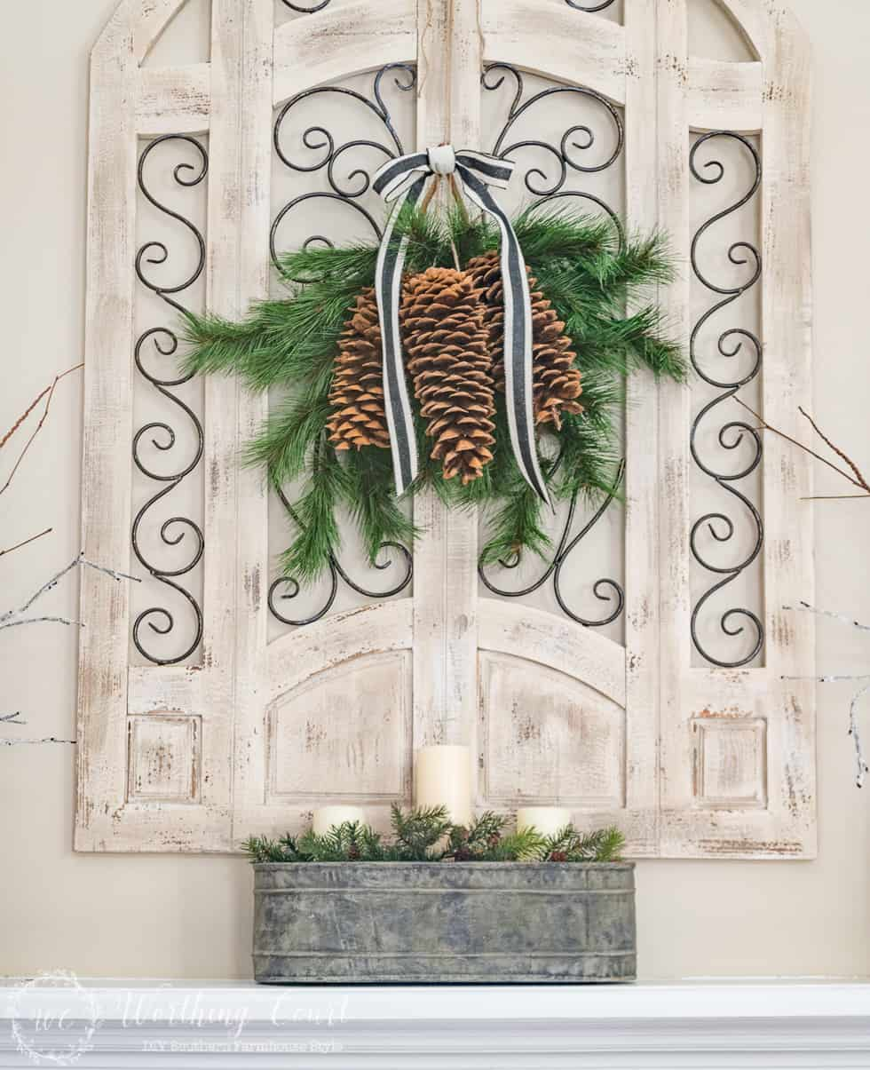 Winter Farmhouse Mantel And Hearth    Worthing Court