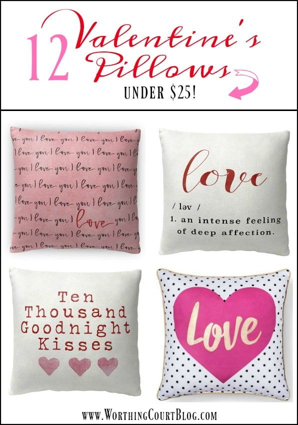 12 Valentine's Day Pillows Under $25 || Worthing Court