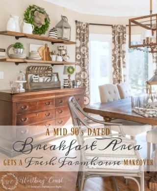 The Evolution Of A Farmhouse Breakfast Area