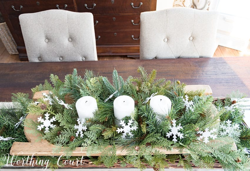 Farmhouse winter centerpiece || Worthing Court