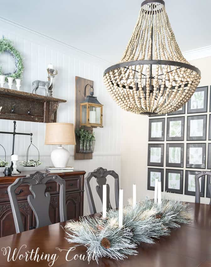 Farmhouse dining room winter decor || Worthing Court