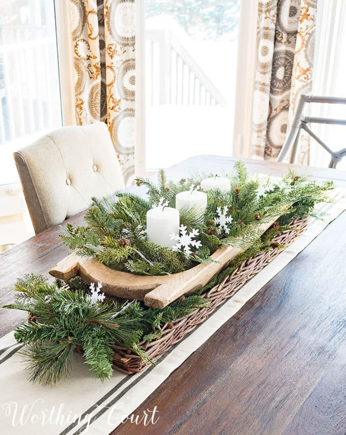 5 Minutes To Fabulous! Easy Winter Centerpiece || Worthing Court