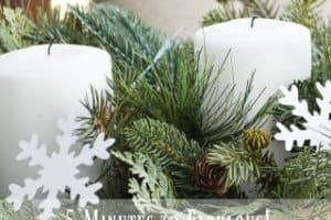 5 Minutes To Fabulous!  An Easy Winter Centerpiece