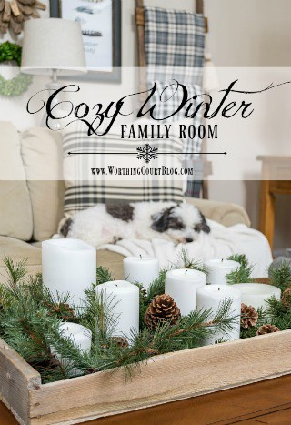 My Cozy Winter Farmhouse Family Room