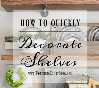 How To Quickly And Easily Keep Shelves Decorated As The Seasons Change