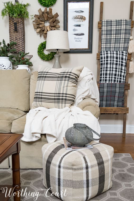 Mix different patterns of plaids for a cozy winter look || Worthing Court