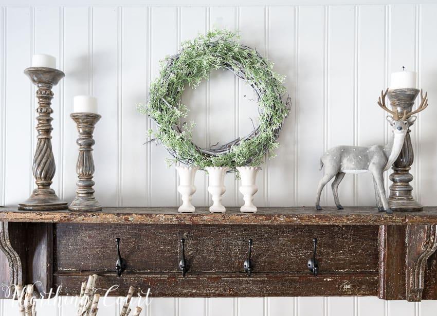 Simple winter shelf display || Worthing Court
