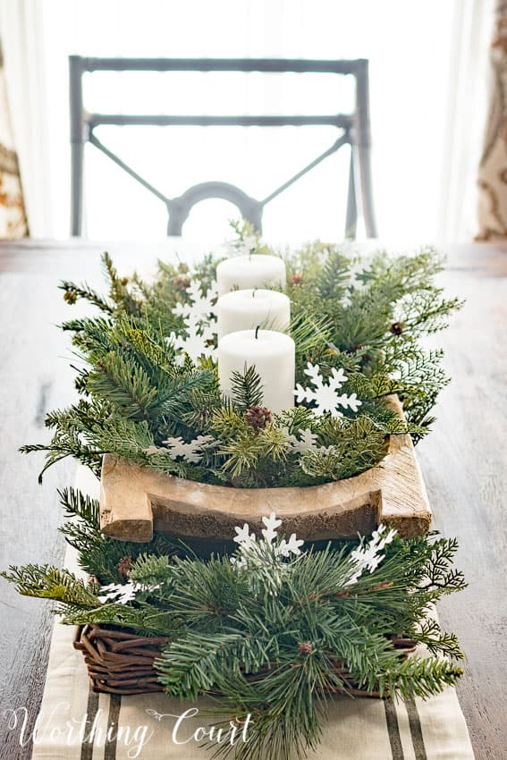 Easy farmhouse winter centeripece || Worthing Court