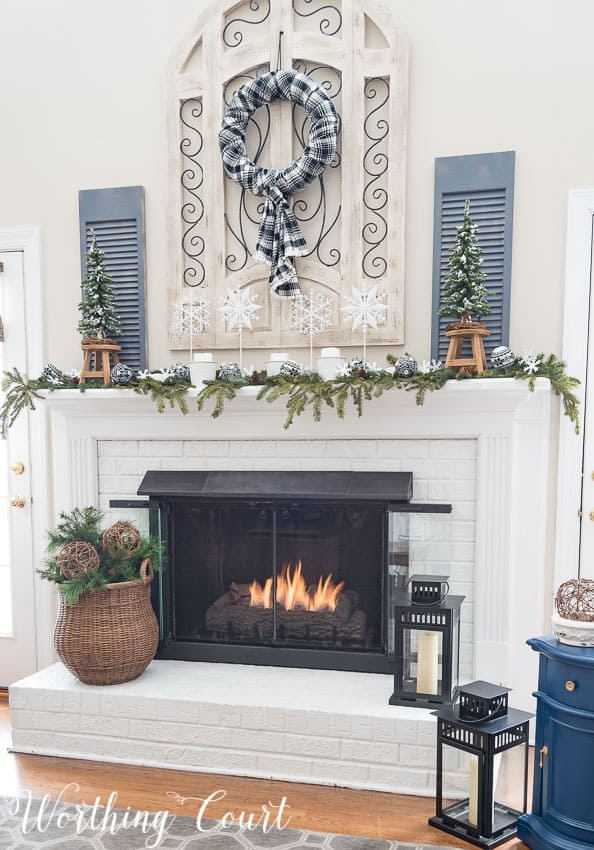 My Snowy Winter Fireplace || Worthing Court