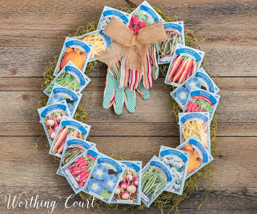 DIY spring wreath using seed packets || Worthing Court