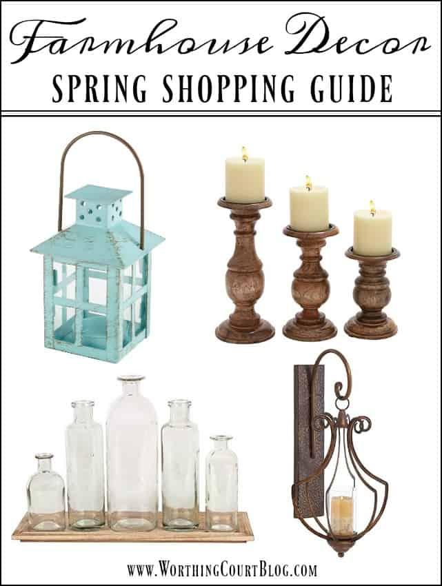 Farmhouse Decor - Spring Shopping Guide || Worthing Court