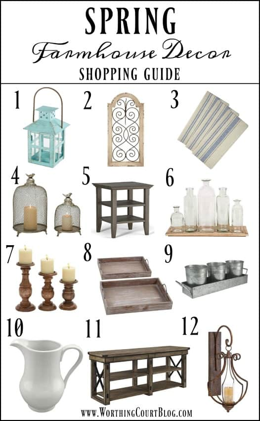 Spring Farmhouse Decor Shopping Guide || Worthing Court