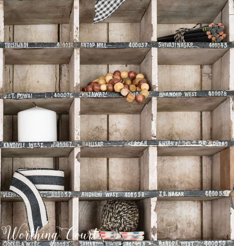 Ideas for filling mail sorter cubbies || Worthing Court